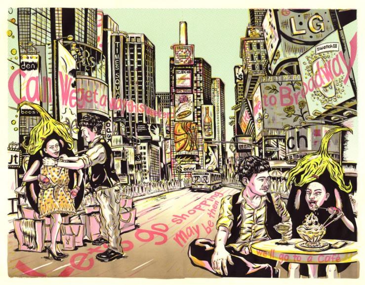 Jungyeon Roh, Miss Eggplant's American Boys illustration