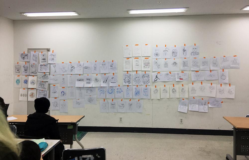 at Seoul Tech - Sketch Wall Critique
