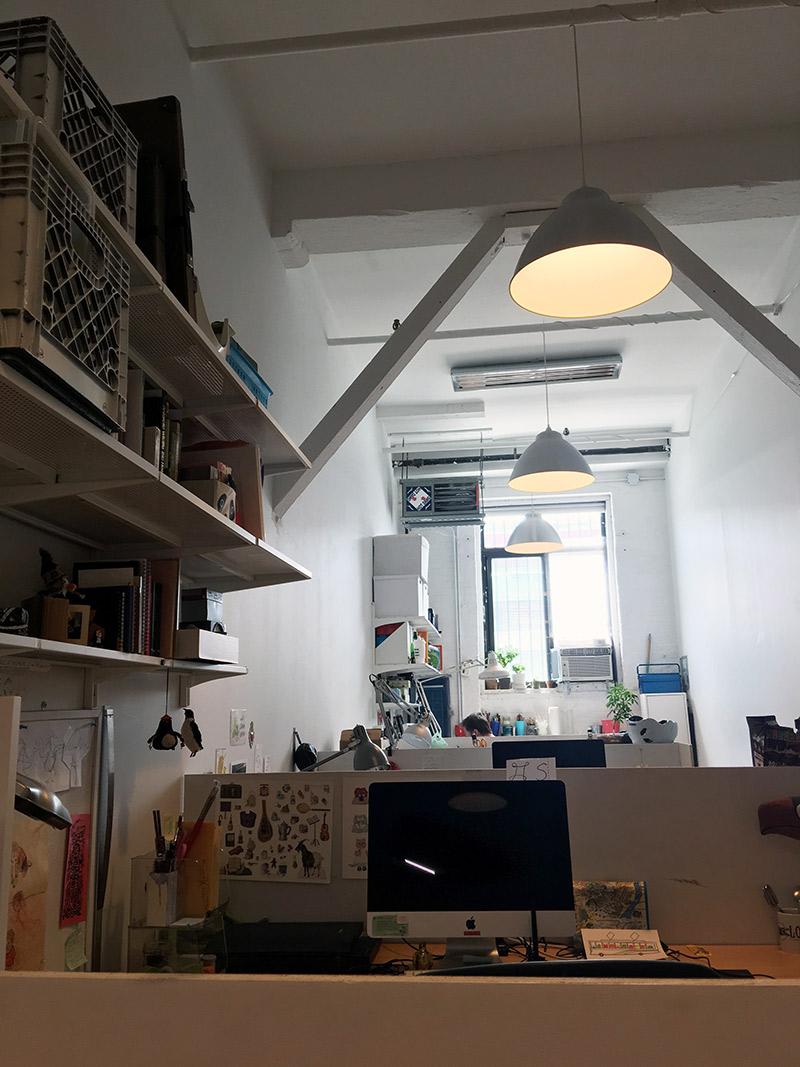 Inside of the studio!